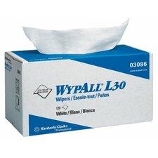 "WypAll® L30 Wipers - 11""x10.4"" white wypall l30 economy wiper 120/box"