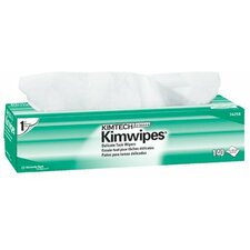 """Kimtech Science® Kimwipes® Delicate Task Wipers - 15""""x17"""" kimwipes ex-l wipes white (1 Case of 15 Cartons)"""