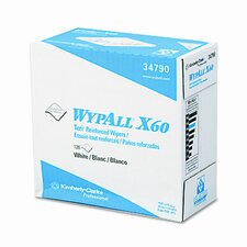 Professional* Wypall X60 Wipers, 126/Box