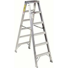 16 ft Aluminum Master Twin Front Step Ladder with 300 lb. Load Capacity