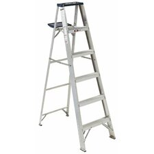 6 ft Aluminum Victor Step Ladder with 225 lb. Load Capacity