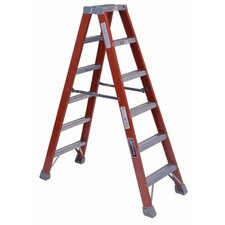 6 ft Fiberglass Step Ladder with 300 lb. Load Capacity