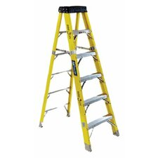 6 ft Fiberglass Step Ladder with 375 lb. Load Capacity
