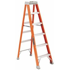 12 ft Fiberglass Step Ladder with 300 lb. Load Capacity