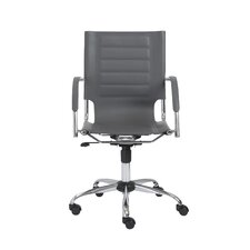 Dave Leather Office Chair with Arms