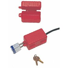 "E-Safe Electrical Plug Lockouts - 3-1/4""x3-1/4""x7"" electrical plug lockout f/2"