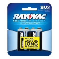 9V Alkaline Battery (Pack of 2)