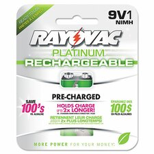 Platinum Rechargeable 9V NiMH Battery