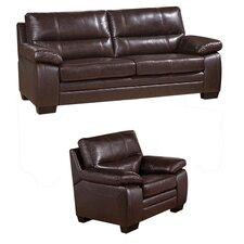 Easton Leather Sofa and Chair Set