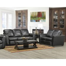 Delta Italian Leather Sofa and Loveseat Set (Set of 2)