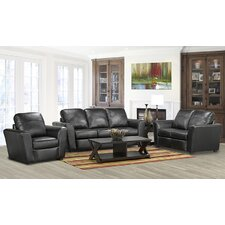 Delta Italian Leather Sofa, Loveseat and Chair Set (Set of 3)
