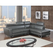 Memphis Leather Air Modern Sectional (Set of 2)