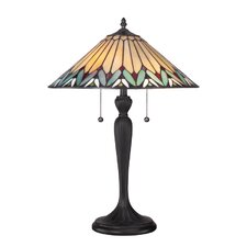"""Pearson Tiffany 23"""" H Table Lamp with Cone Shade"""