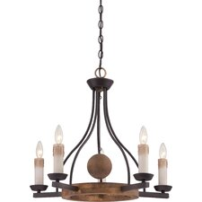 Hampshire 5 Light Candle Chandelier