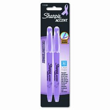 Pink Ribbon Pocket Style Highlighters, Pink, 2/ Pack (Set of 4)
