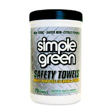 Citrus Scented Safety Towels, 10 x 11 3/4, 75/Canister