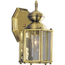 Beveled Glass 1 Light Wall Lantern