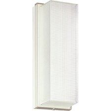 Hard-Nox White Ribbed Ceiling or Wall Compact Fluorescent Sconce Lamp with Standard Ballast