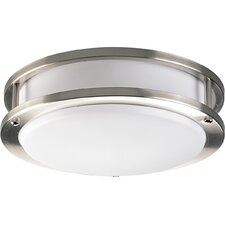 Close-to-Ceiling Flush Mount in Brushed Nickel