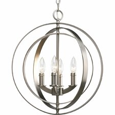Equinox 4 Light Candle Chandelier