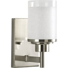 Alexa One Light Wall Bracket in Brushed Nickel