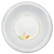 (500 Per Container) 12 oz Paper Bowls in Green/Tan