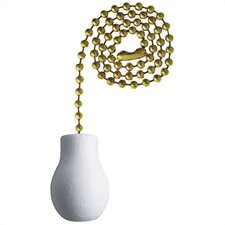 White Wood Knob Ceiling Fan Pull Chain (Set of 26)