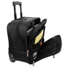 "17"" Rolling Business Boarding Tote"