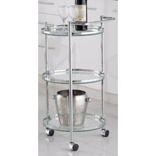 Sleek Chrome Serving Cart