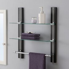 "19.63"" W x 22.5"" H Bathroom Shelf with Towel Bar"