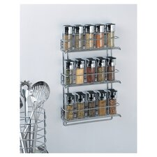 Stainless Steel Wall Mount Spice Rack