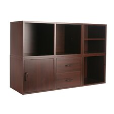 Cube Storage System In Cherry (5 In 1)