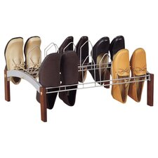 Espresso 9 Pair Shoe Rack