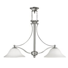 Bolla 2 Light Dinette Mount in Brushed Nickel