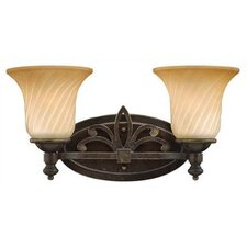 Valencia Two Light Vanity in Regency Bronze