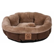 Snoozzy Rustic Elegance Round Shearling Bed