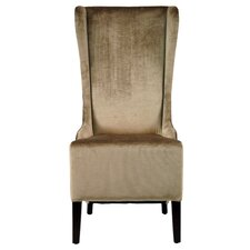 Deco Bacall Faux-Silk Velvet Wing Chair