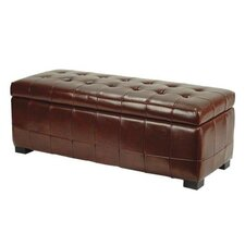 Manhattan Leather Storage Ottoman