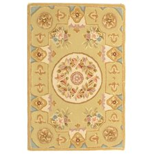 French Tapis Soft Beige Floral Area Rug