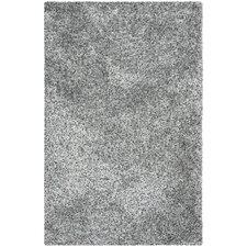 Malibu Gray and Black Shag Area Rug