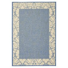 Courtyard Blue / Natural Area Rug