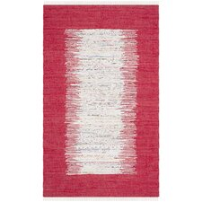 Montauk Ivory / Red Contemporary Rug