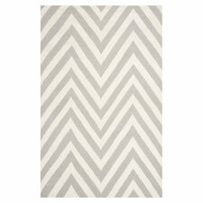 Dhurries Grey & Ivory Area Rug