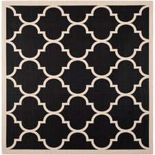 Courtyard Black & Beige Area Rug II