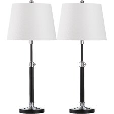 """Jones 29"""" H Table Lamp with Drum Shade (Set of 2)"""