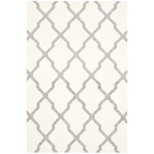 Dhurries Ivory/Gray Area Rug