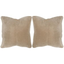 Velvet Dream Cotton Throw Pillow (Set of 2)