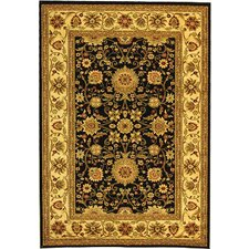 Lyndhurst Black/Cream Area Rug