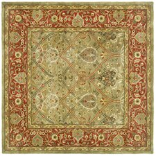 Persian Legend Light Green & Rust Area Rug