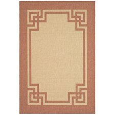 Deco Frame Beige / Terracotta Area Rug